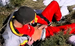 Gay twink makeup video first time Roma Smokes In The Snow
