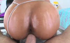 NYMPHO Big tit ebony babe Nia Nacci fucks a white cock