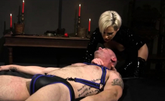 Blonde mistress enjoys hardcore BDSM