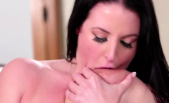 Busty brunette licks and fingers her gf after saving her