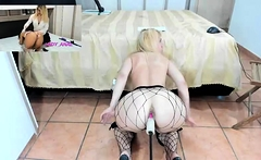 Pussy toying stockings milf