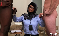 Arab whore rides on top of a dick