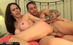Busty milf assfucked during spooning