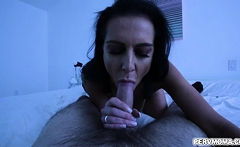 Stepson lets stepmom plays with his swollen tip