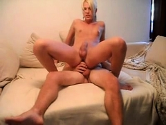 Super Hot Blonde Teen Trap Sucks And Rides Her Bf Cock