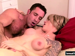 Busty Shemale Secretary Throats And Ass Fucked By Boss Cock