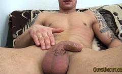 Cal Jerking His Cock