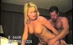 Mature couple fuck in a motel room.