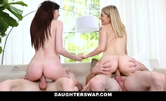 DaughterSwap - Teens Get Taught Lesson By Hot Dads