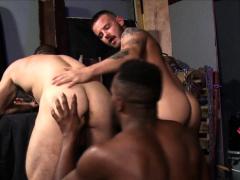 Rimmed Dude Takes Big Black Cock
