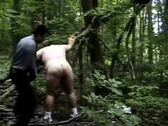 Spanked And Belted Out In The Woods