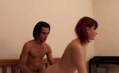 Alluring redhead diva gets rammed with joy