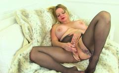 English milf Classy Filth dildos her wet fanny
