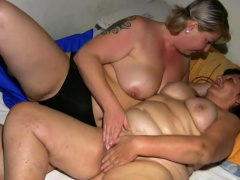 Fat Gilf In Lesbian Encounter With A Blonde