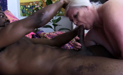 British granny sucks big black dong