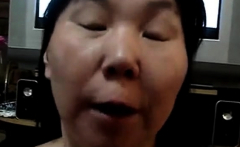 Asian amateur drink piss and cum