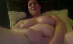 Big titted chick masturbates furiously