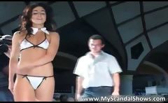 Awesome brunette girl feels very dirty