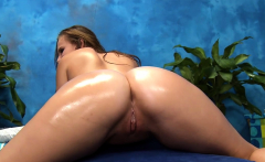 Charming chick gets a hard fuck after a carnal massage