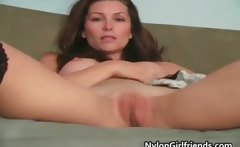 Cute Heather Vandeven take off black