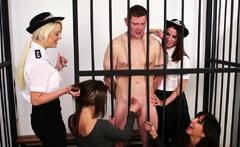 Cfnm Dommes Dicksucking Bound Subject In Jail