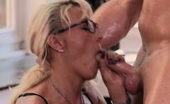 big tits german blonde mature milf with glasses fuck