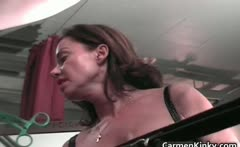 Hot sexy MILF brunette nasty chick
