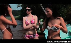 Beach party with bunch of horny and sexy